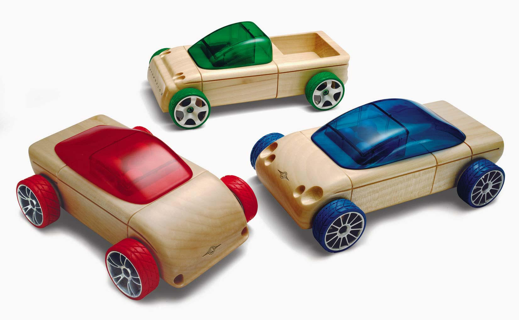 Wooden Automoblox cars