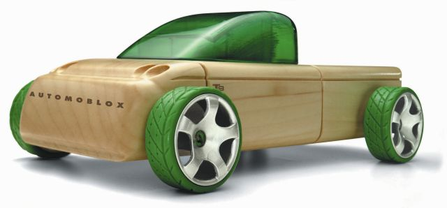 Automoblox T9 Wooden Pickup Truck